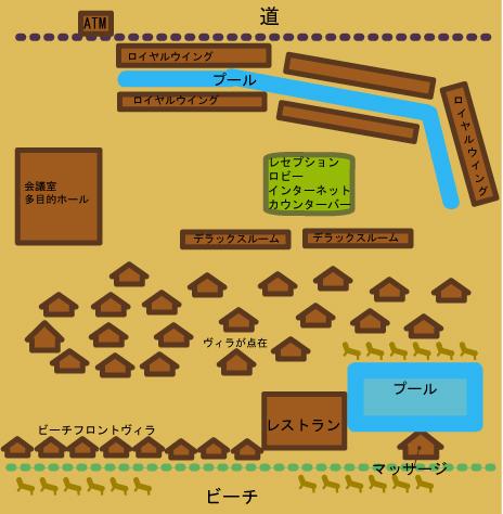 サムイパームビーチ全体図(略)