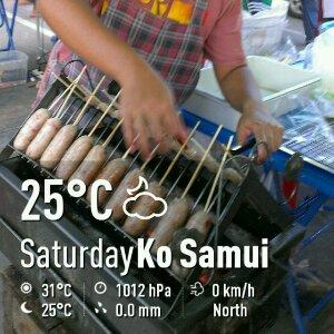 今日のサムイ島 1月4日 街角イサーン料理