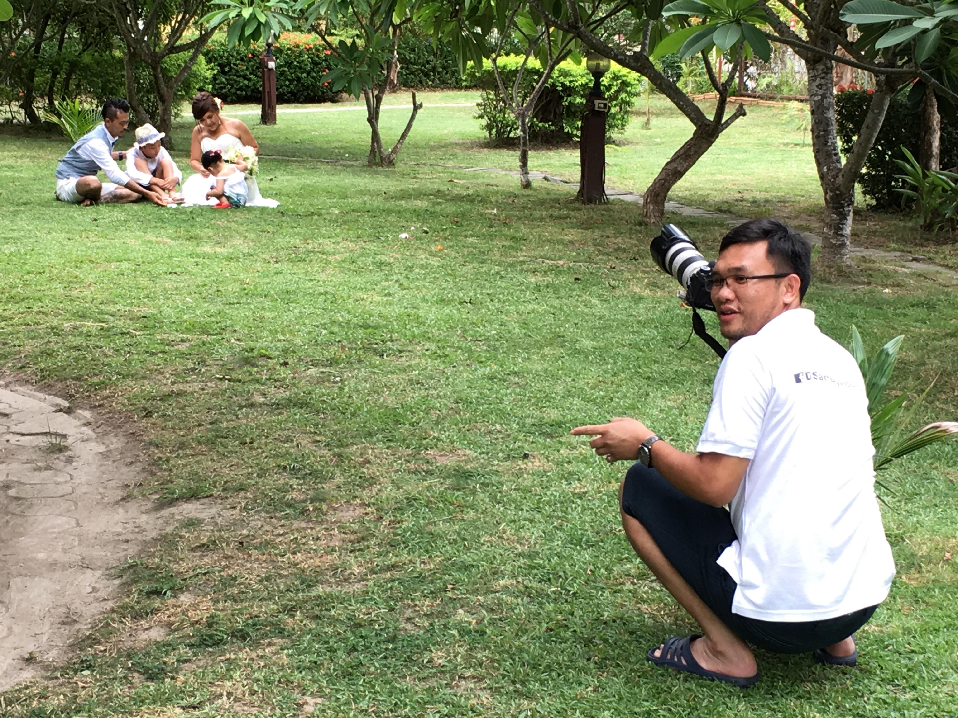 今日のサムイ島 ファミリーウエディングフォト撮影