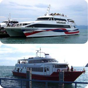 サムイ島からの船のチケット パンガン島・タオ島・ナンユアン島、フルムーンパーティ -本土 船+バスジョイントチケット