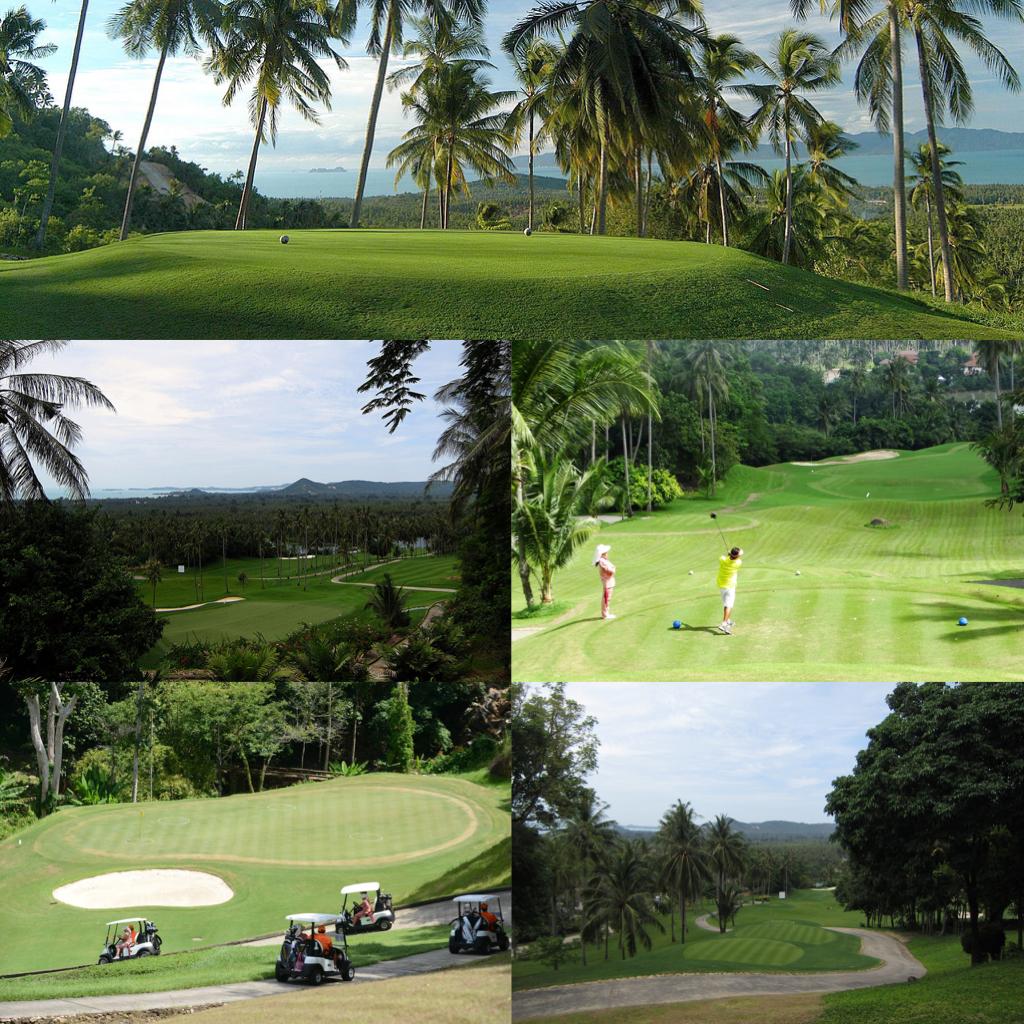 サムイ島 シービュー18ホールゴルフコース-サンティブリサムイカントリークラブ