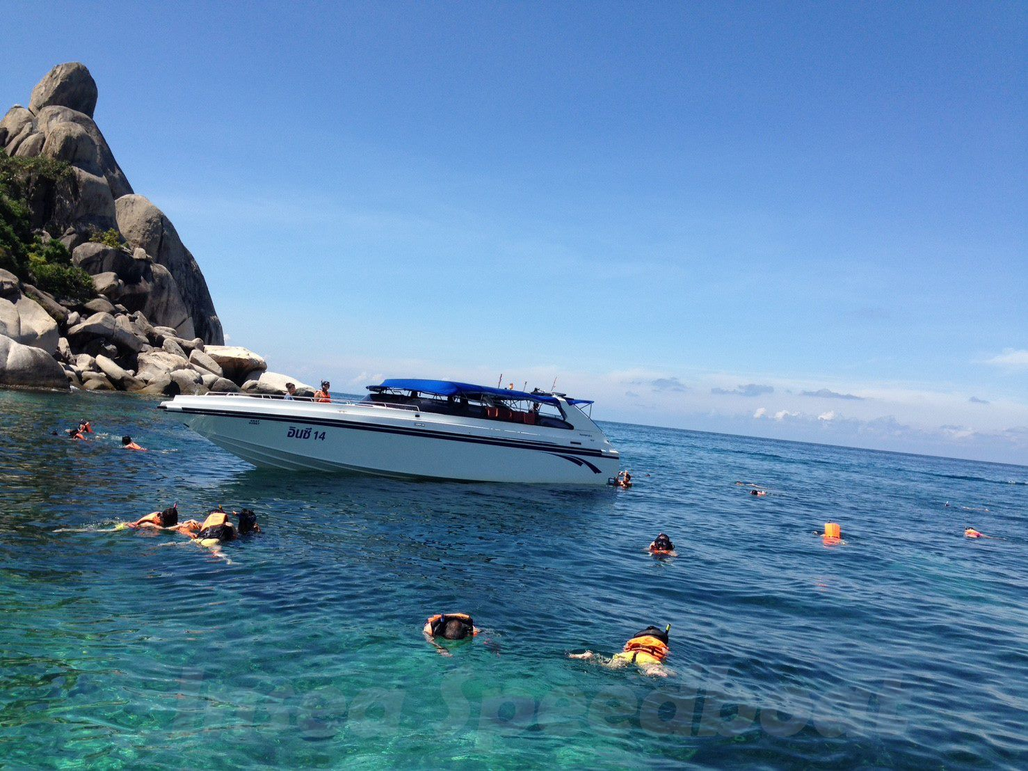 スピードボート利用タオ島ナンユアン島スノーケルツアー タオ島ランチ
