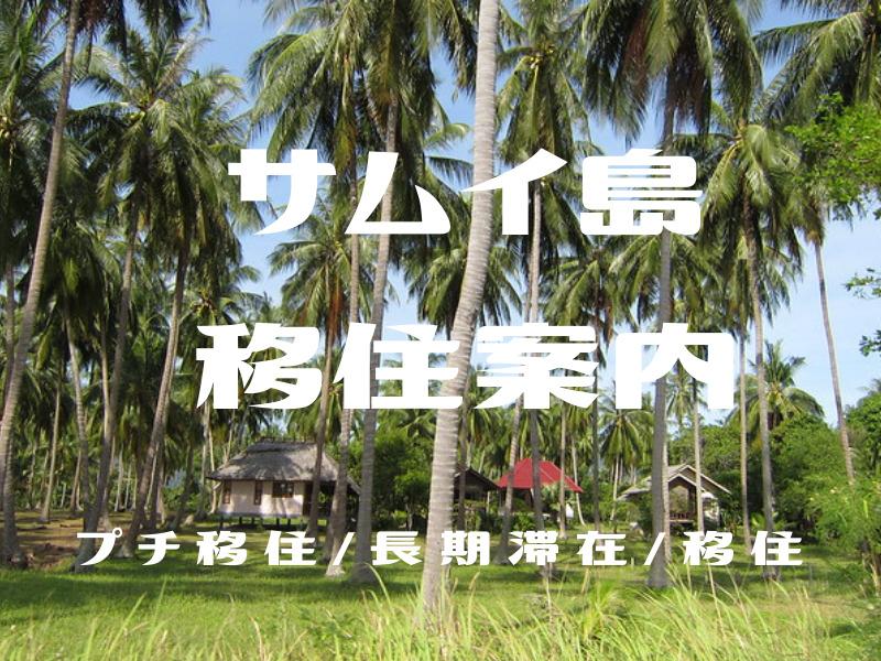 サムイ島に住んでみよう!移住/プチ移住・長期滞在向け準備~島暮らし情報-家探し/日本食材/日常生活のヒント